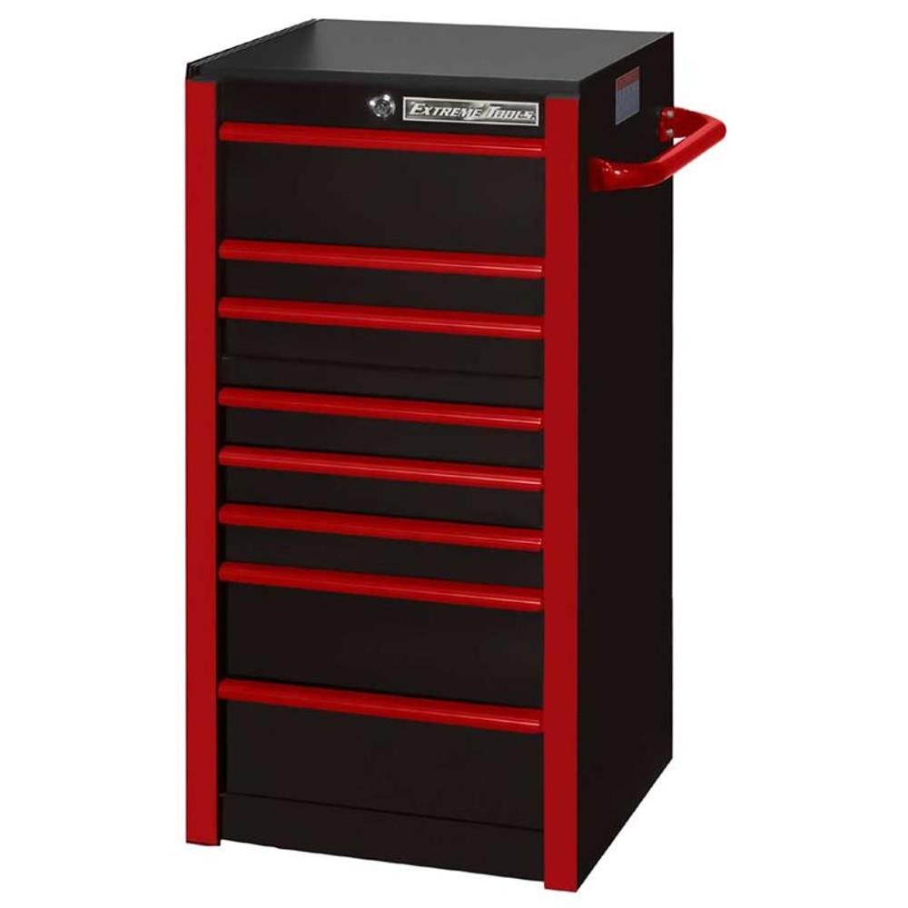 """Extreme Tools RX 19"""" x 25"""" Deep 7-Drawer Side Box - Black w/Red Trim"""