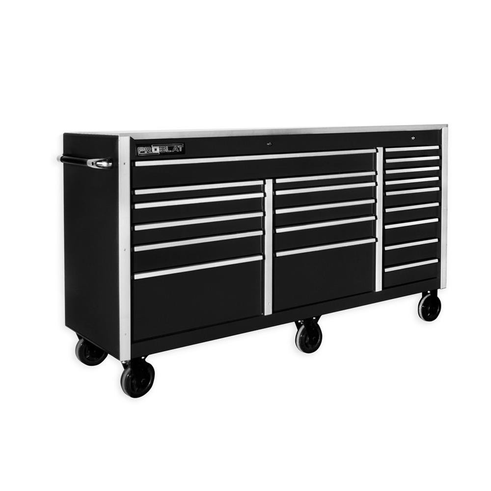 "Proslat MCS 73"" Rolling Tool Chest with Work Surface - Black"