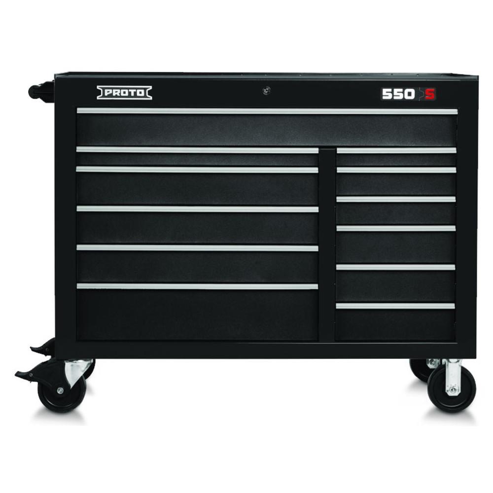 "Proto 550S 50"" Workstation 12 Drawer - Dual Black"