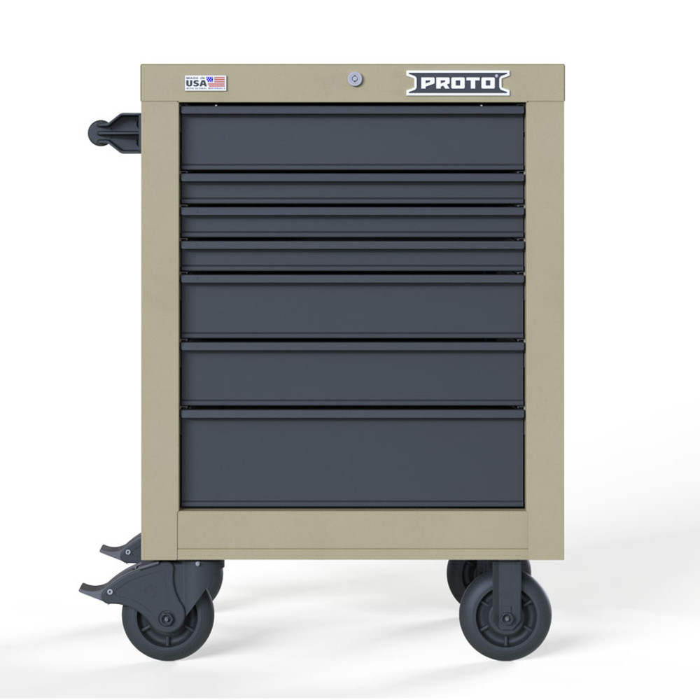 "Proto Velocity 27"" 7-Drawer Single Bank Roller Cabinet - Desert Tan"