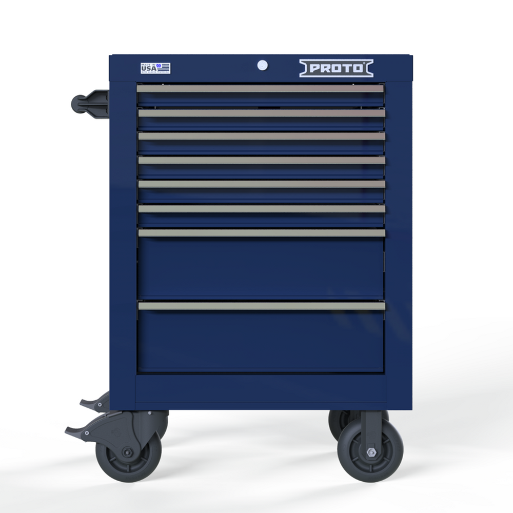 "Proto Velocity 27"" 8-Drawer Single Bank Roller Cabinet - Blue"