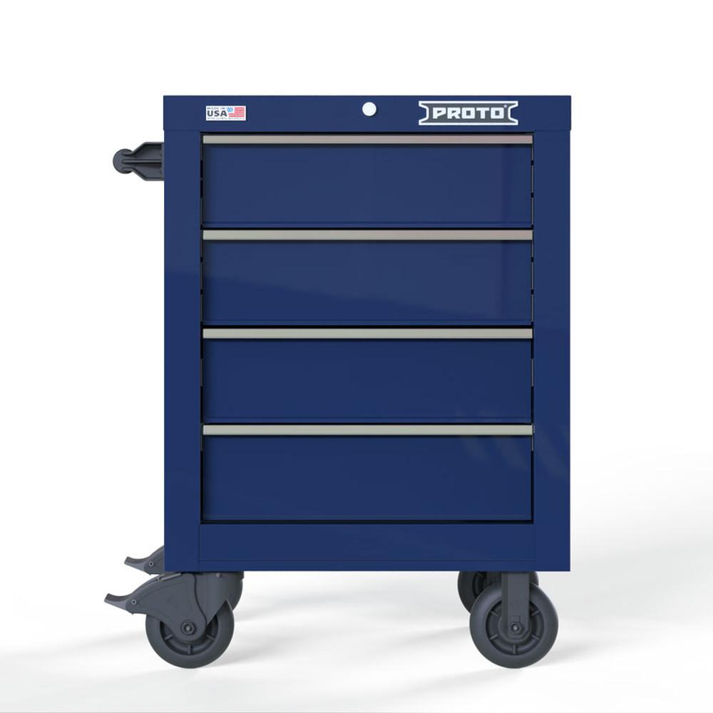 "Proto Velocity 27"" 4-Drawer Single Bank Roller Cabinet - Blue"