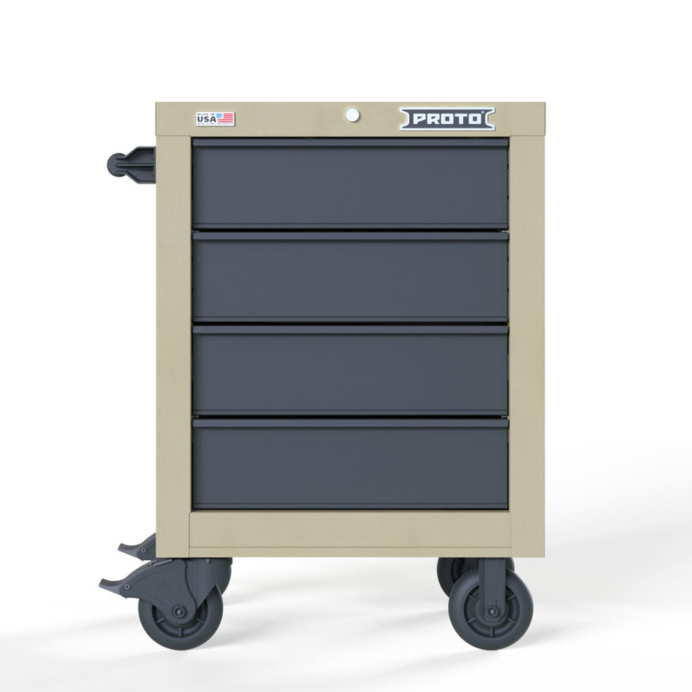 "Proto Velocity 27"" 4-Drawer Single Bank Roller Cabinet - Desert Tan"
