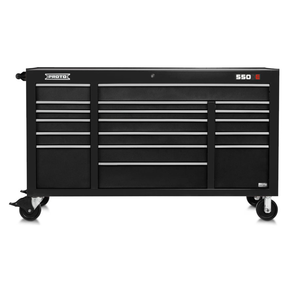 "Proto 550E 67"" Power Workstation- 18 Drawer - Dual Black"
