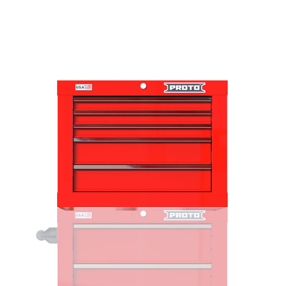 "Proto Velocity 27"" 5-Drawer Single Bank Top Chest - Red"