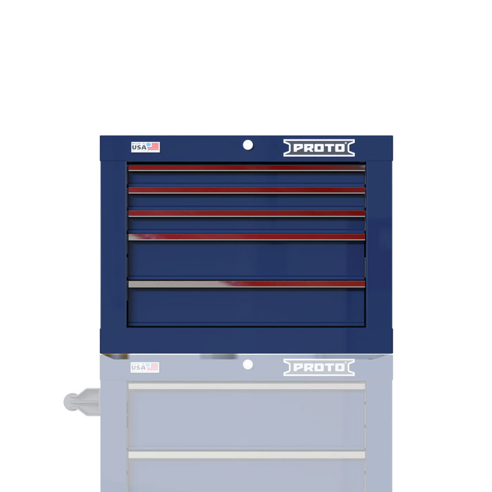 """Proto Velocity 27"""" 5-Drawer Single Bank Top Chest - Blue"""