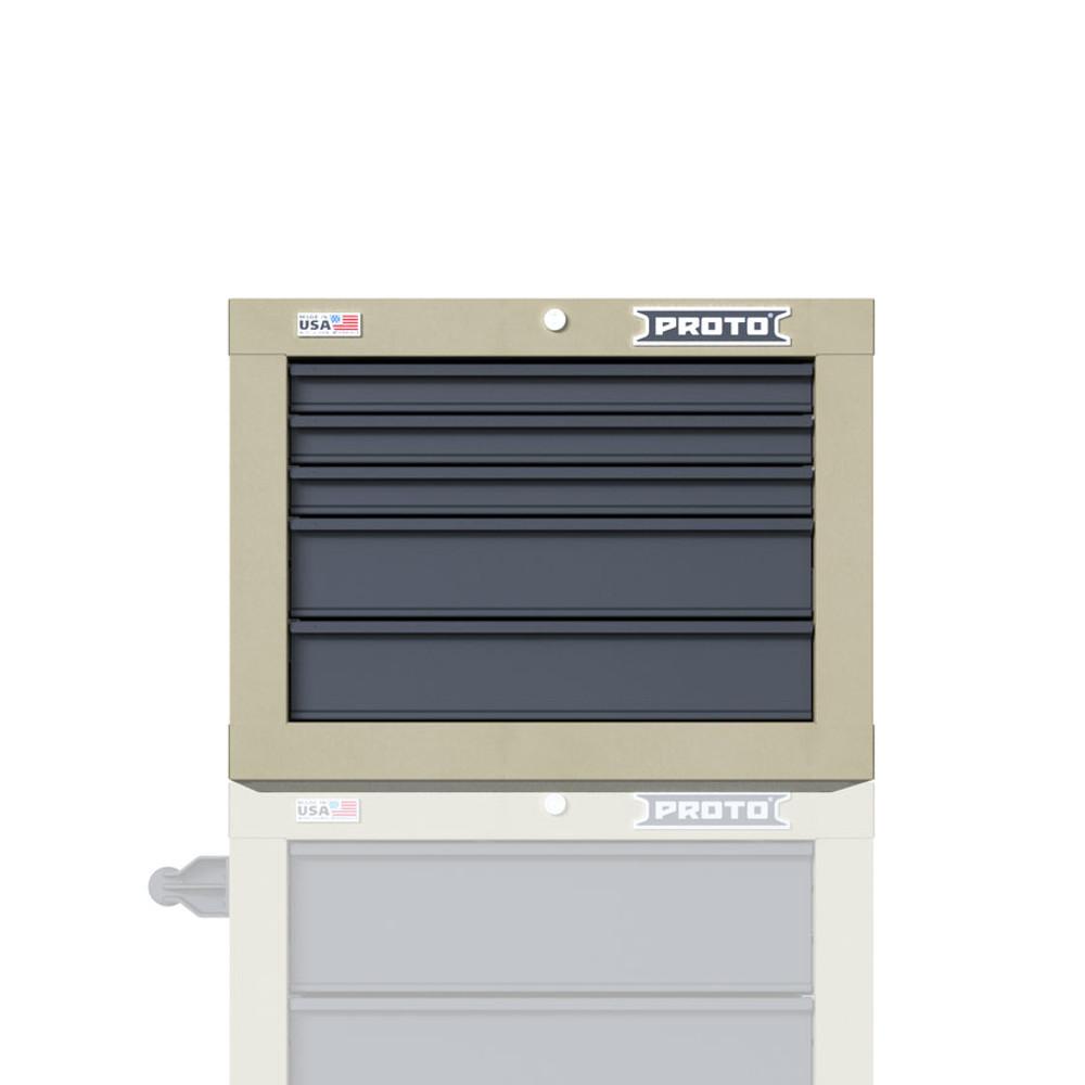 "Proto Velocity 27"" 5-Drawer Single Bank Top Chest - Desert Tan"
