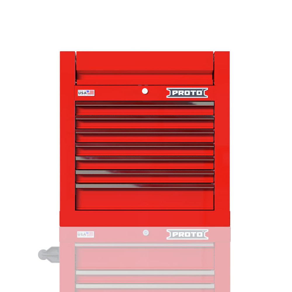 """Proto Velocity 27"""" 7-Drawer Single Bank Top Chest - Red"""