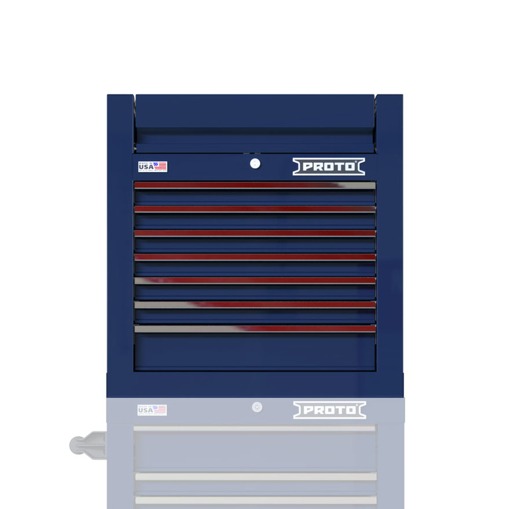 """Proto Velocity 27"""" 7-Drawer Single Bank Top Chest - Blue"""