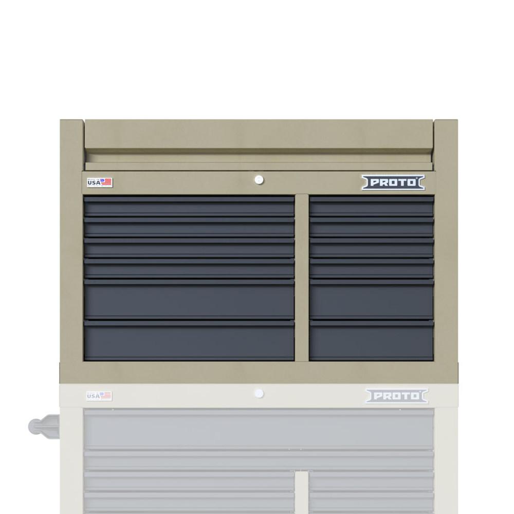 "Proto Velocity 42"" 12-Drawer Double Bank Top Chest - Desert Tan"