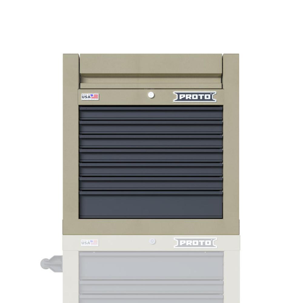 "Proto Velocity 27"" 7-Drawer Single Bank Top Chest - Desert Tan"