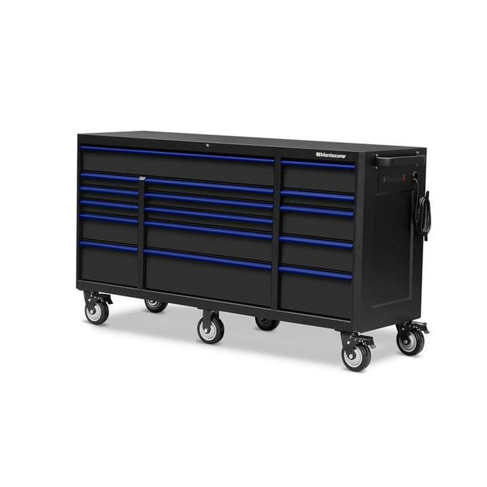 "Montezuma 72"" X 24"" 16-Drawer Roller Cabinet"