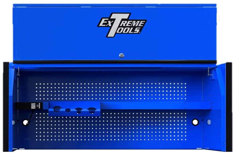 "Extreme Tools RX Series 55"" x 25"" Deep Professional Hutch - Blue w/Black Handle and Trim"