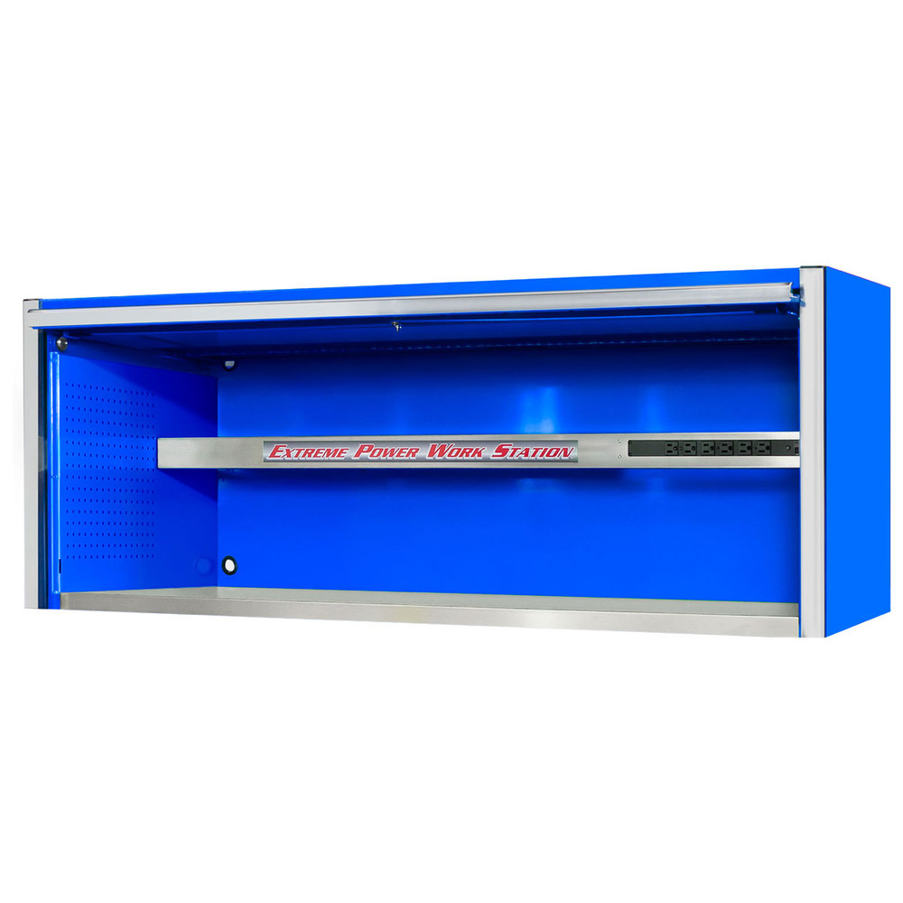 "Extreme Tools EXQ Series 72""W x 30""D Professional Hutch - Blue w/Chrome Handle"