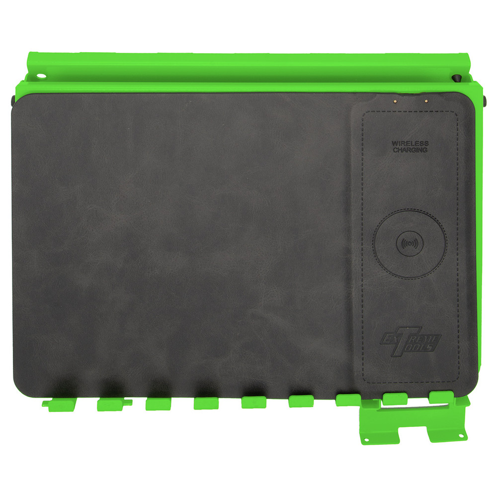 Extreme Tools ACTP Media/Tech Holder Accessory With Phone Charging Pad - Green