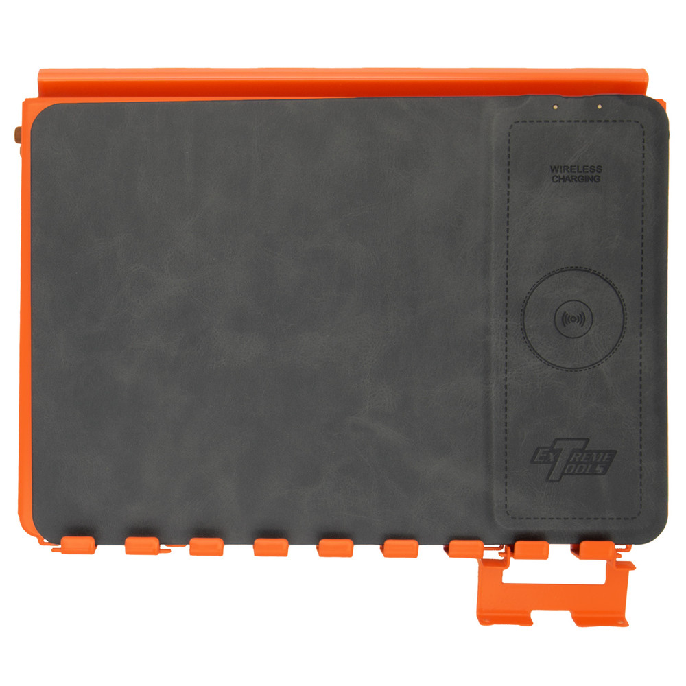 Extreme Tools ACTP Media/Tech Holder Accessory With Phone Charging Pad - Orange