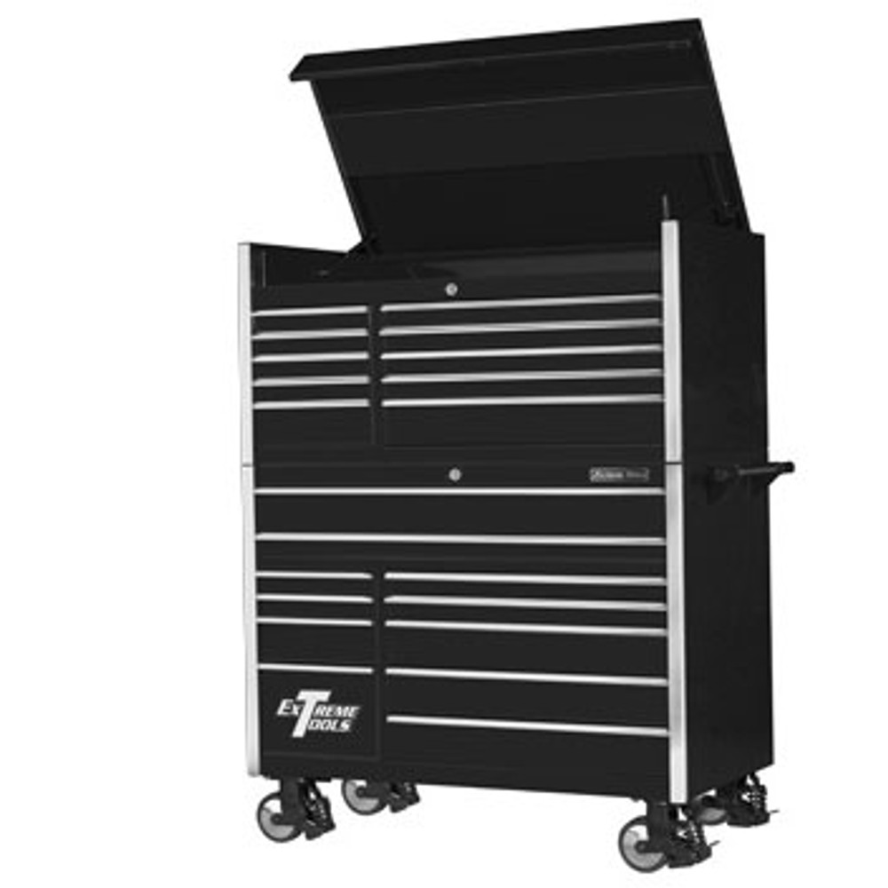 """Extreme Tools 55"""" 11-Drawer Professional Roller Cabinet with Tool Chest"""