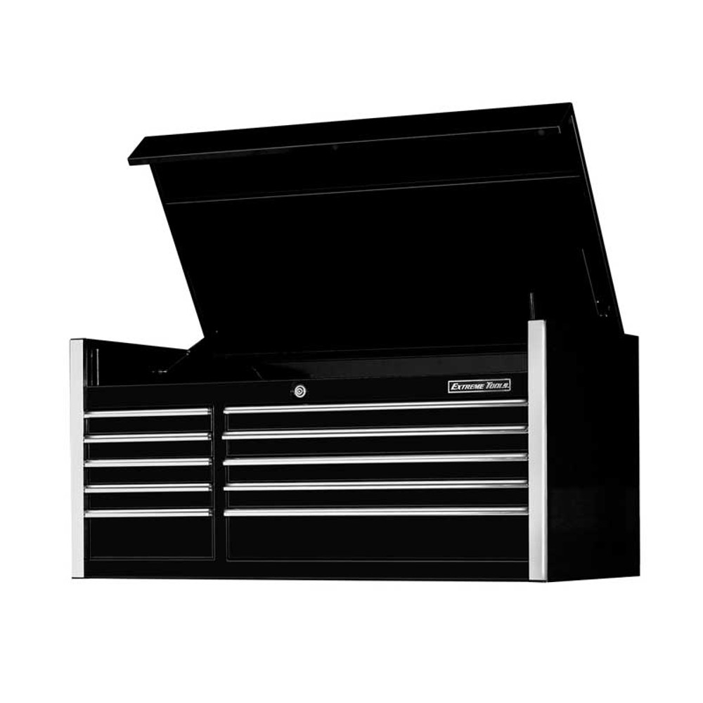 """Extreme Tools 55"""" 10-Drawer Professional Tool Chest - Black"""