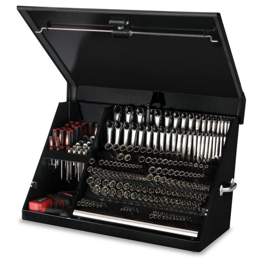 """Montezuma 36"""" x 17"""" Portable Steel Toolbox - Black"""