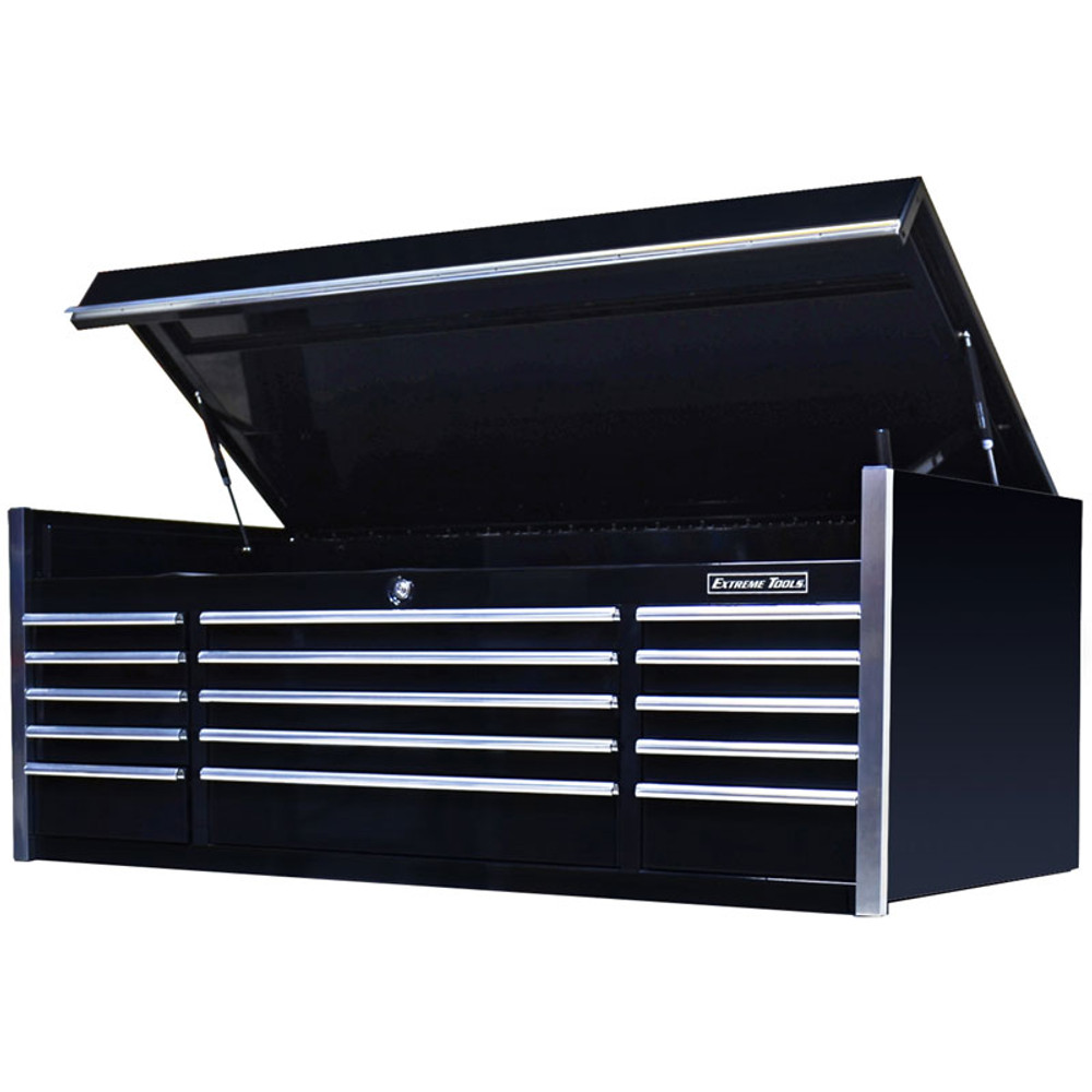 """Extreme Tools 72"""" 15-Drawer Professional Top Chest - Black"""