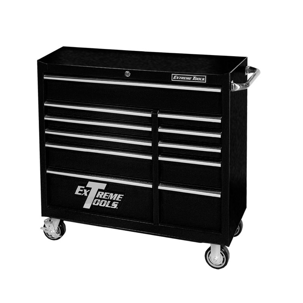 """Extreme Tools 41"""" Deluxe Textured Roller Cabinet - Black"""