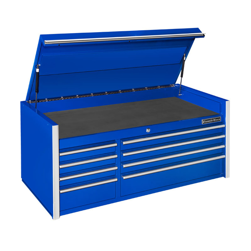 """Extreme Tools RX Series 55"""" 8-Drawer Top Chest - Blue"""