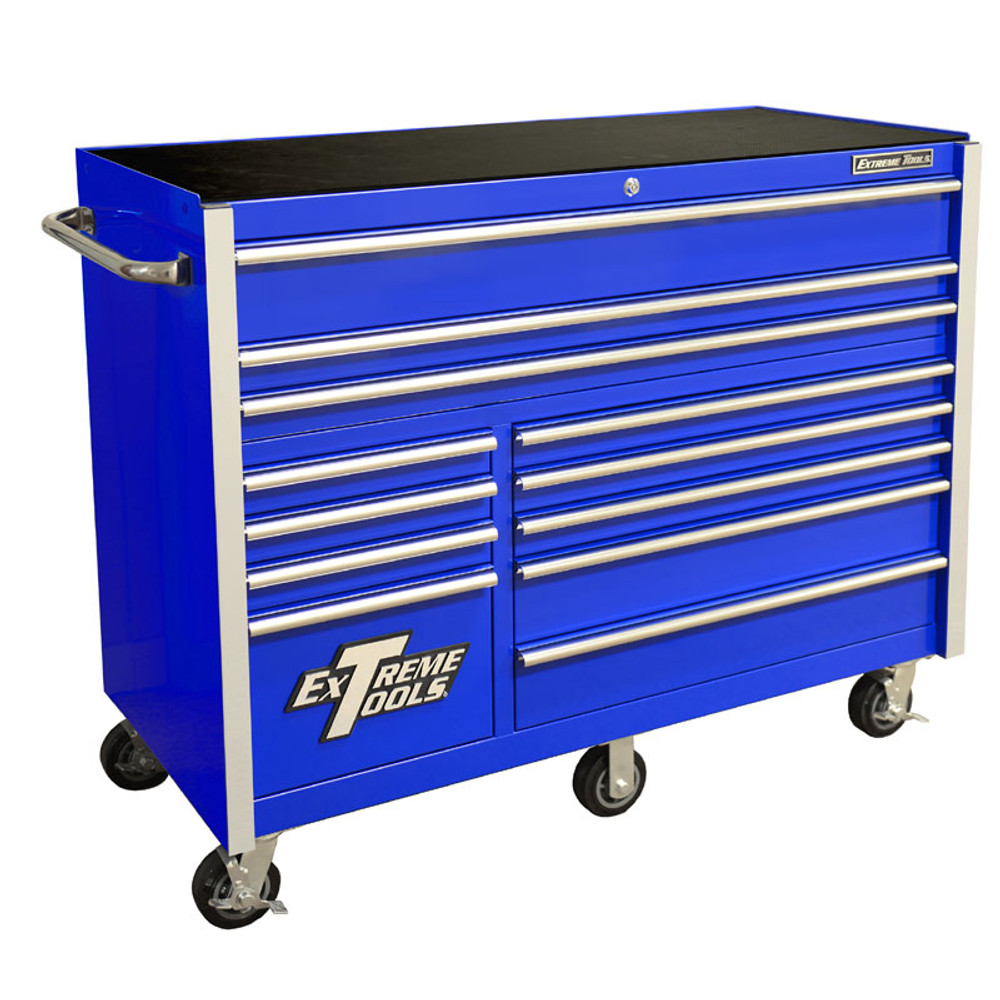 """Extreme Tools RX Series 55"""" 12-Drawer Roller Cabinet - Blue"""