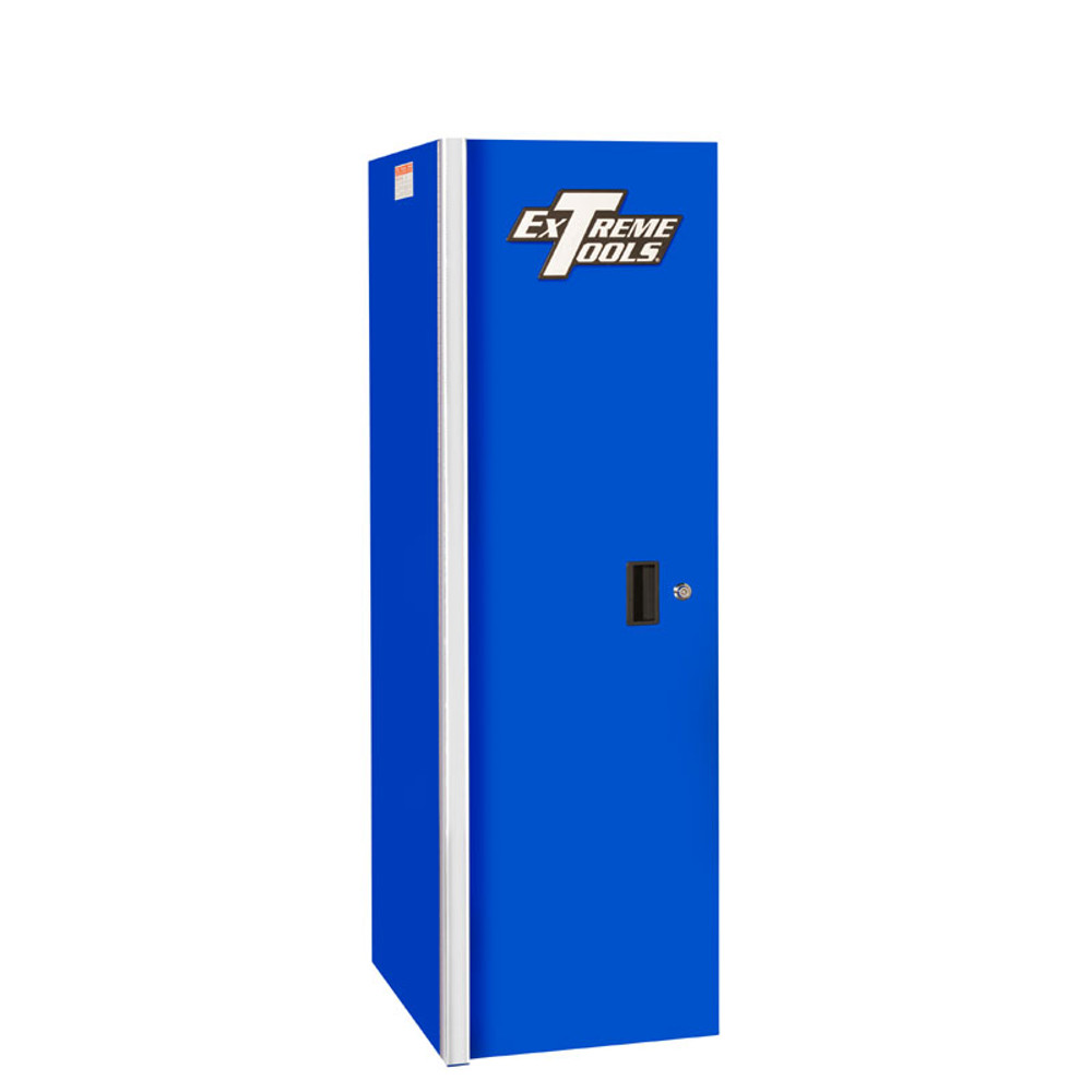 "Extreme Tools RX 19"" x 25"" Deep 3 Drawer/3 Shelf Side Locker - Blue"