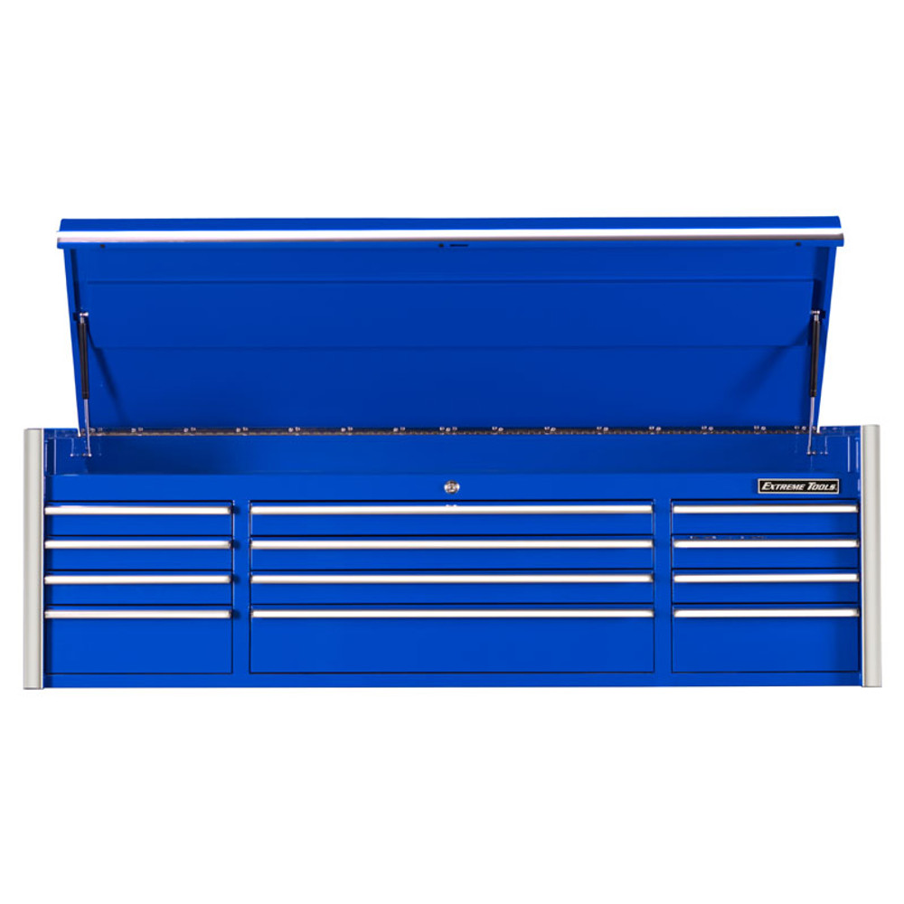 """Extreme Tools 72"""" RX Series 12-Drawer Top Chest - Blue"""