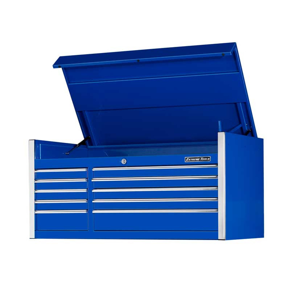 """Extreme Tools 55"""" 10-Drawer Professional Tool Chest - Blue"""