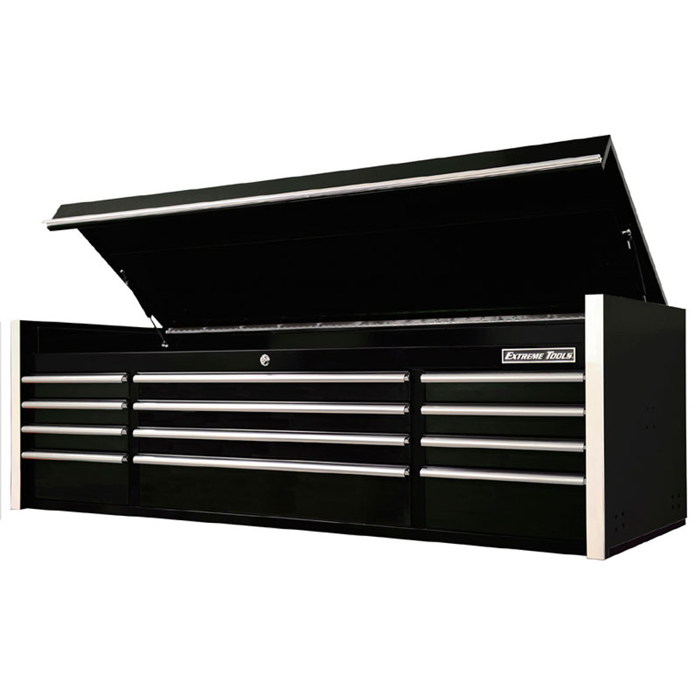 """Extreme Tools 72"""" RX Series 12-Drawer Top Chest - Black"""