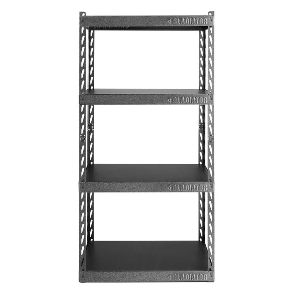 "Gladiator 30"" Wide EZ Connect Rack w/Four 15"" Deep Shelves"