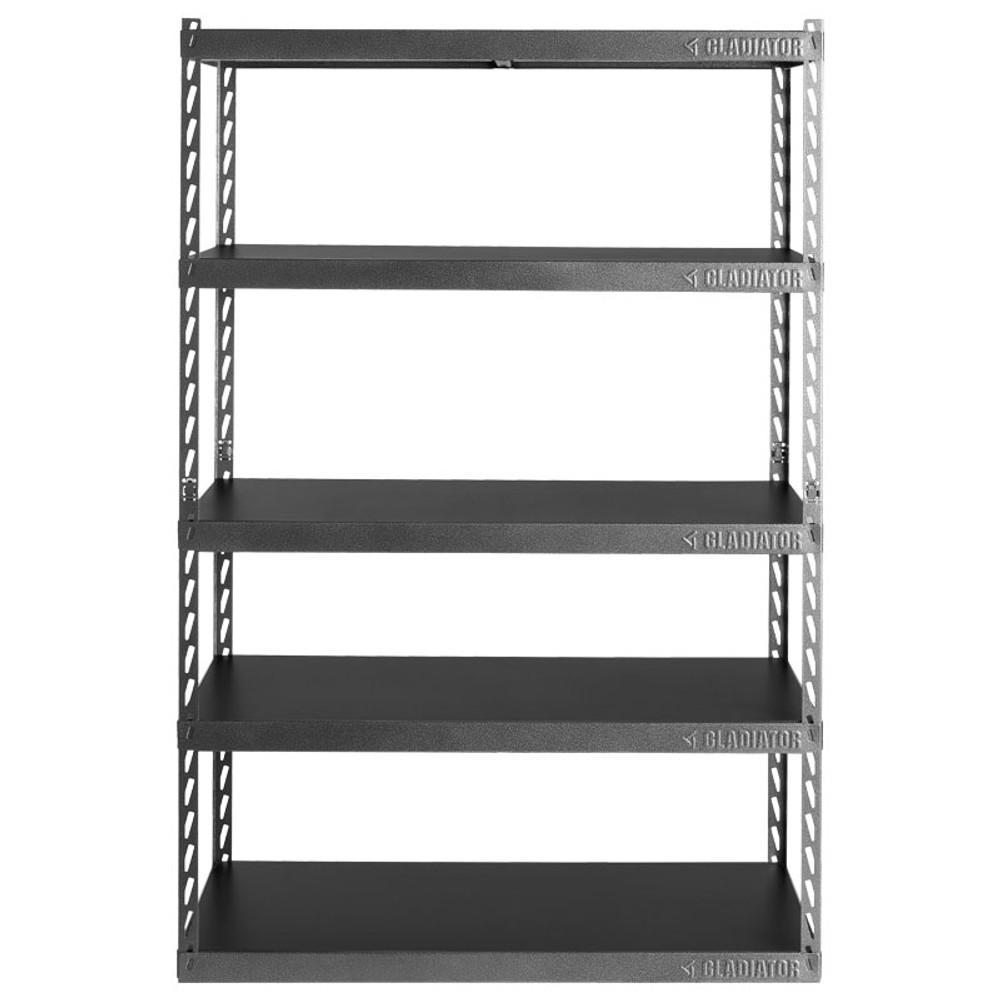 "Gladiator 48"" Wide EZ Connect Rack w/Five 24"" Deep Shelves"