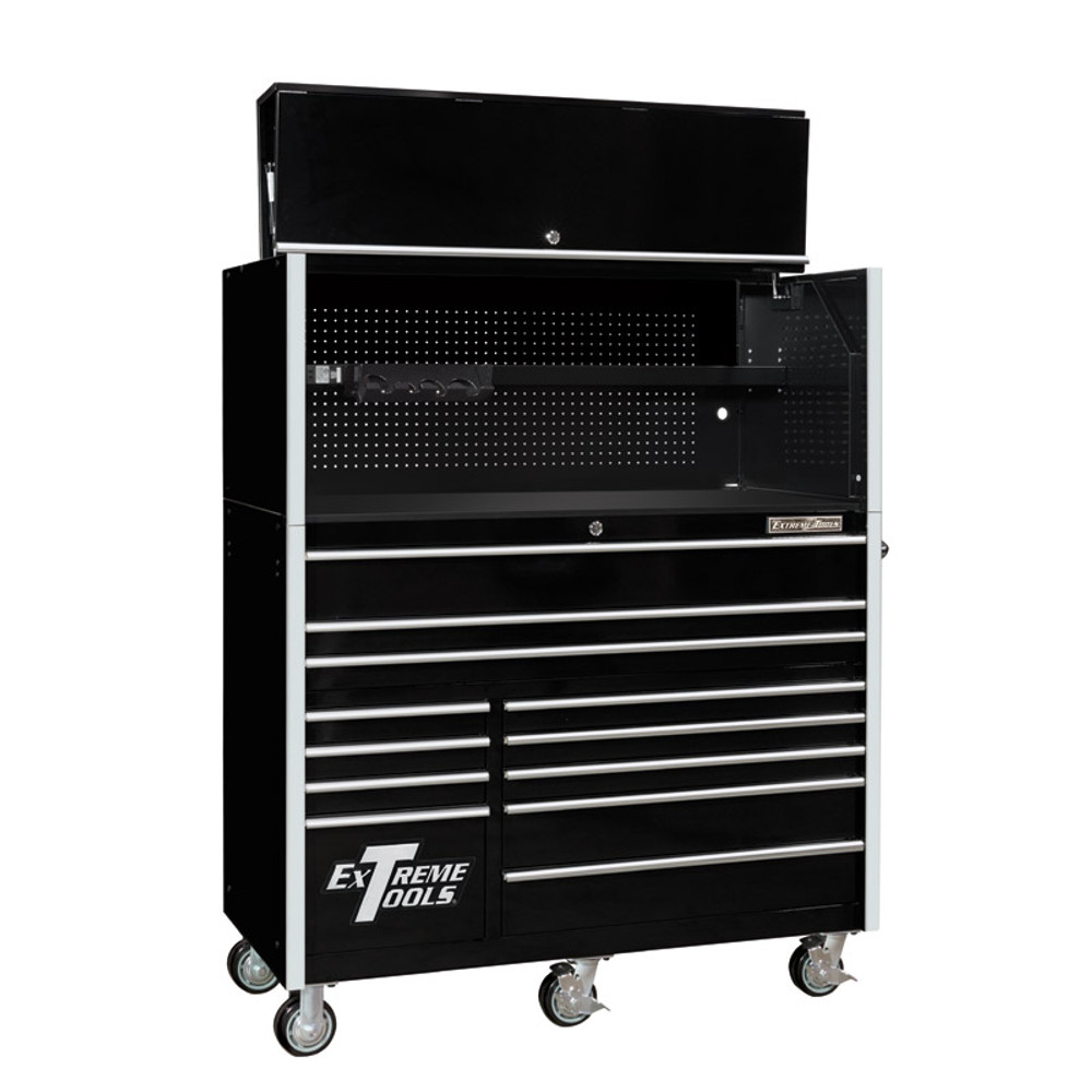 """Extreme Tools RX Series 55"""" 12-Drawer Roller with Hutch"""