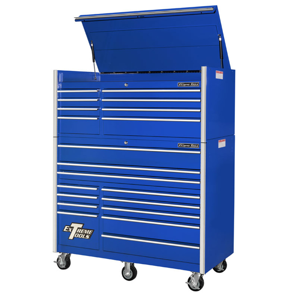 "Extreme Tools RX Series 55"" 20-Drawer Chest & Roller Combo - Blue"