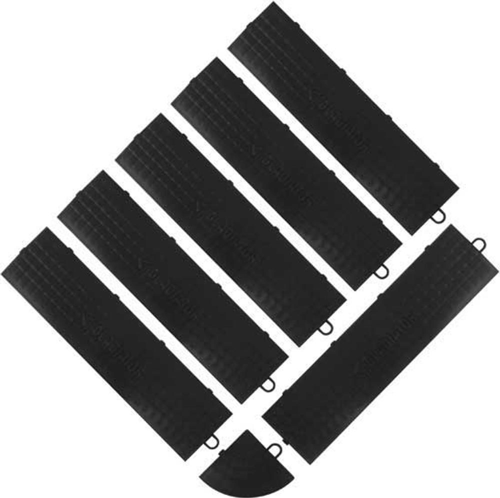 Gladiator Black Edge Trim - Male (6 Pack + 1 Corner)