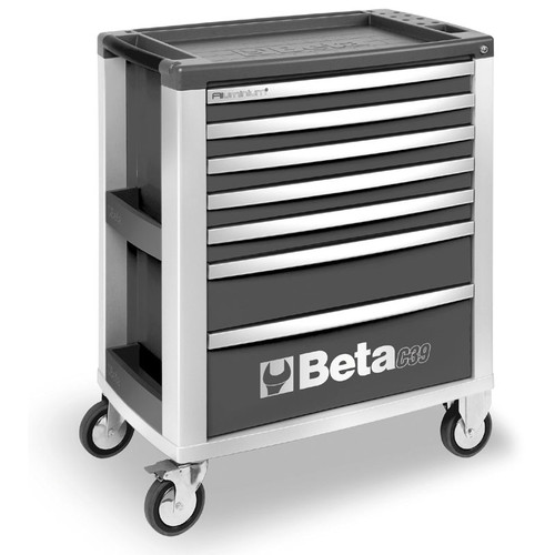Beta Tools C39-7/G Mobile Roller Cabinet with 7 Drawers - Grey