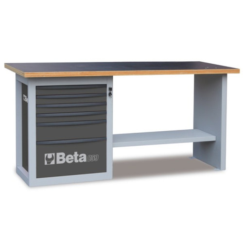 Beta Tools C59A-G Endurance Workbench with Six Drawer Cabinet - Grey