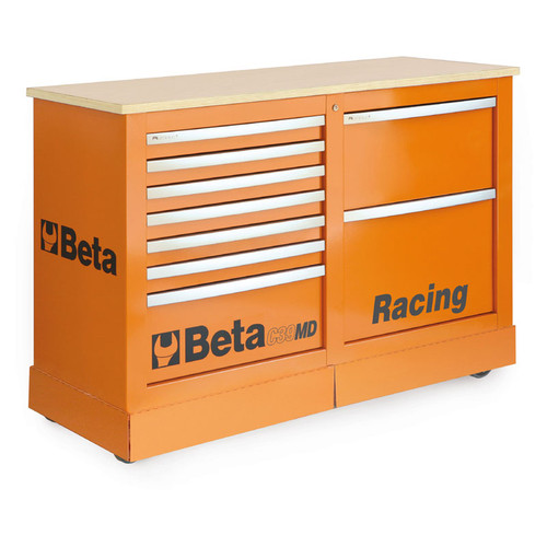 Beta Tools C39MD-O Special Mobile Roller Cabinet, Racing MD Type - Orange