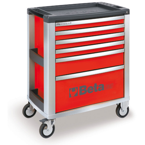 Beta Tools C39-6/R Mobile Roller Cabinet with 6 Drawers - Red