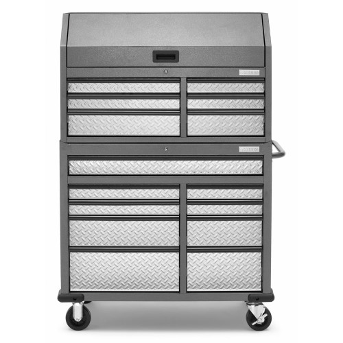 "Gladiator 41"" 15 Drawer Mobile Tool Chest Combo"