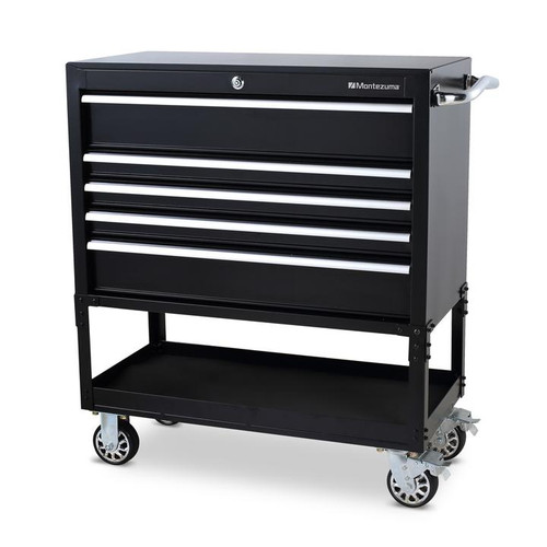 "Montezuma 36"" 5-Drawer Utility Cart"