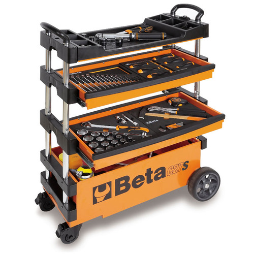 Beta Tools C27S-O Folding Tool Trolley - Orange