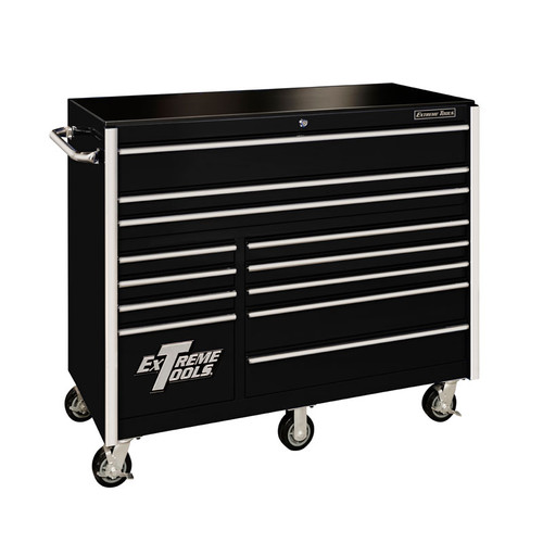 "Extreme Tools RX Series 55"" 12-Drawer Roller Cabinet / Black"