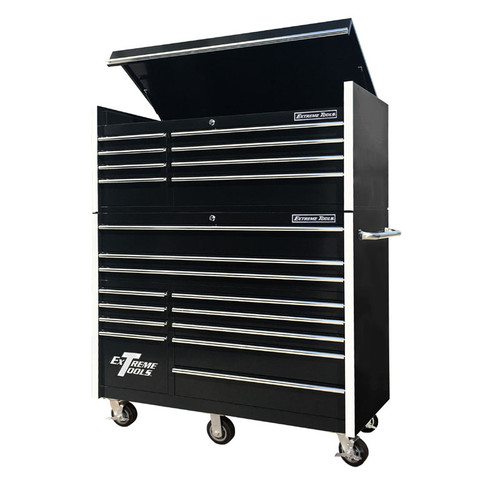 "Extreme Tools RX Series 55"" 20-Drawer Chest & Roller Combo / Black"