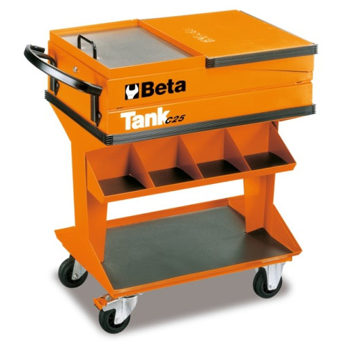 Beta Tools C25 Tank Trolley with Shelf