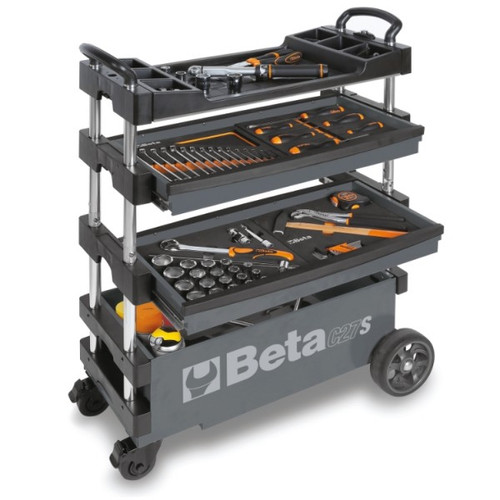 Beta Tools C27S-G Folding Tool Trolley - Grey