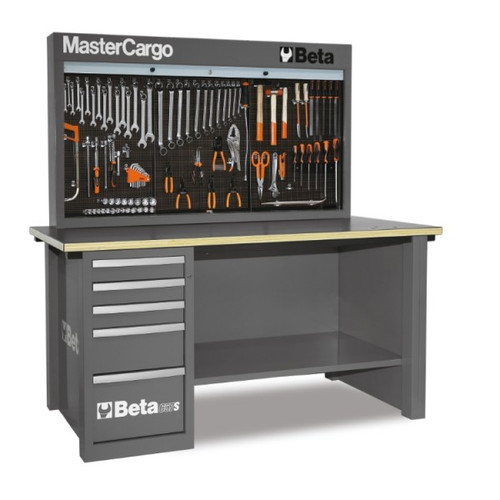 Beta Tools C57SA-G MasterCargo 5-Drawer Workbench - Grey