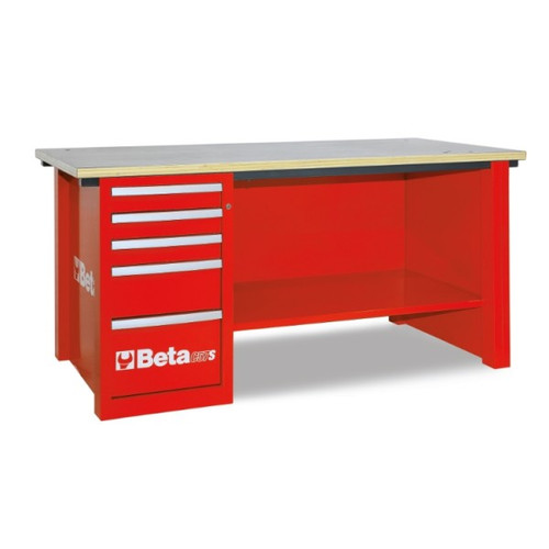 Beta Tools C57SD-R MasterCargo Workbench with 5 Drawer Cabinet - Red