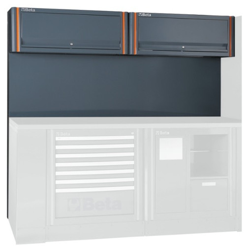 Beta Tools C55/2PM Tool Wall System with 2 Suspended Cabinets